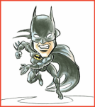 Batman Caricature by Cartoon Slinger