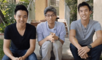 "A shot from Wong Fu Productions'  ""10 Year Anniversary"" clip."