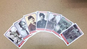 Have Japanese American WWII veterans sign their baseball cards for you at the Go For Broke monument!