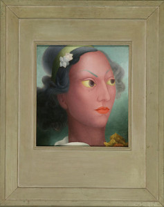 Benji Okubo, Portrait of Sissee See, c. 1927–45. Japanese American National Museum. Gift of Chisato Okubo.