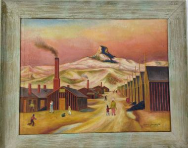 Jack Yamasaki, Untitled (1942), oil on canvas. Japanese American National Museum, Gift of Dr. Kenji Irie.