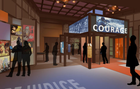 A digital rendering of GFBNEC's new Defining Courage exhibition. Image courtesy of Go For Broke.