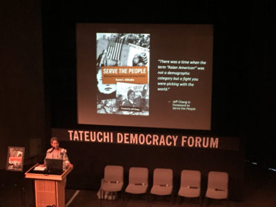 Karen Ishizuka introduces the book and the panel.