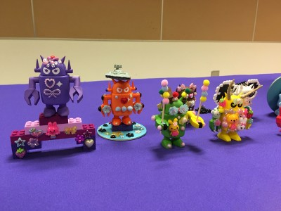 Some of the results of the Giant Robot decoden workshop. Photo by MariAnne Nguyen.