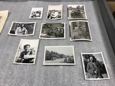 While at MGM, art director Eddie Imazu worked on an early movie about the renowned all-Japanese American 442nd Regimental Combat Team called Go For Broke (1951). Here, we see casual snapshots he took of the actors while they were on set.