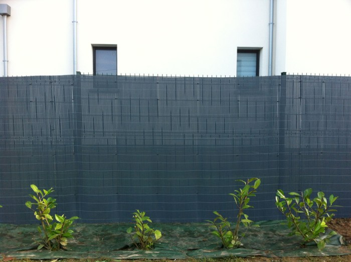 Canisses gris anthracite 1.80 m