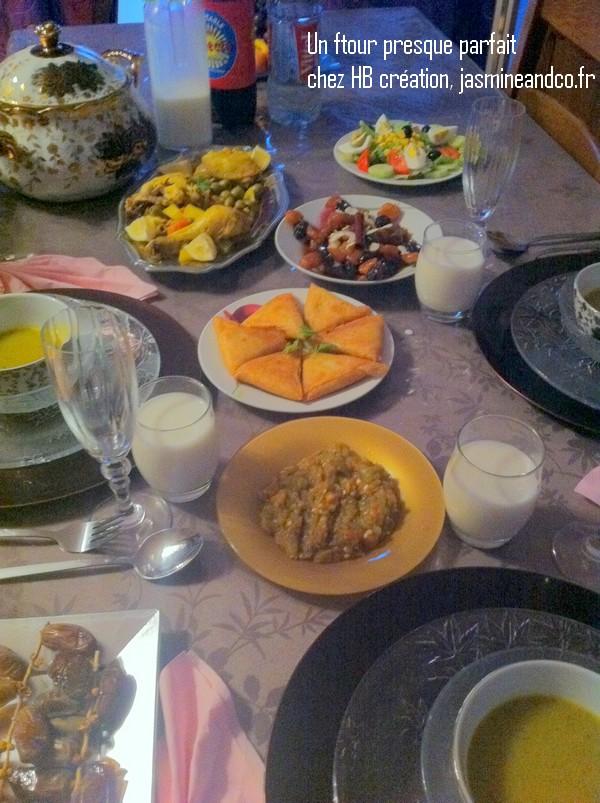 un ftour presque parfait table