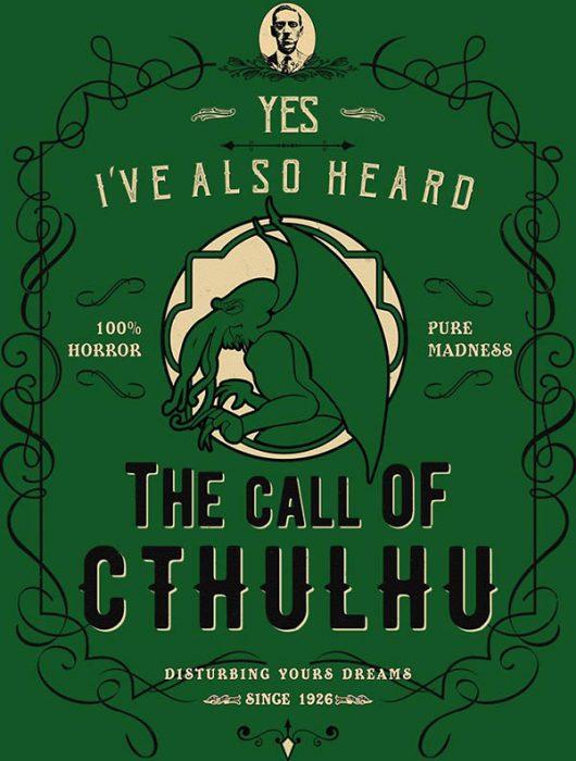 call of cthulhu tshirt