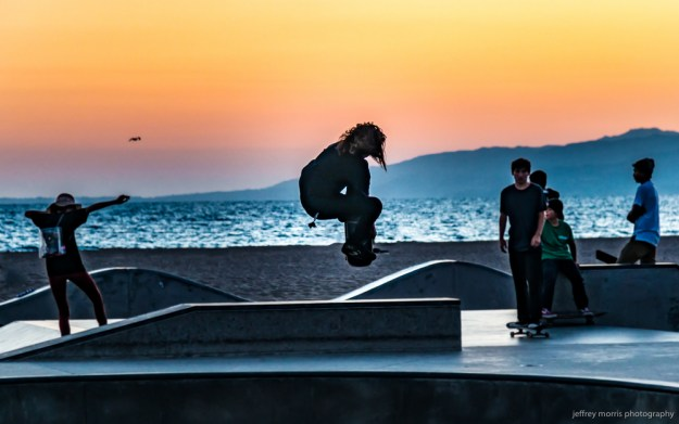 skaters, seagulls and sunsets
