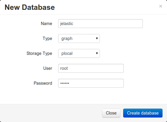 orientdb new database