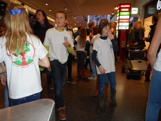Flash mob in K in Kortrijk