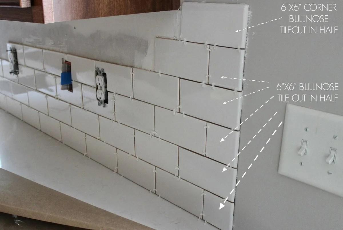 a diy subway tile backsplash part 1