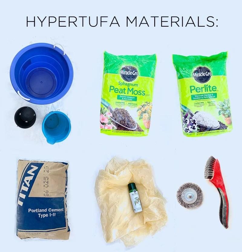 hypertufa planter materials