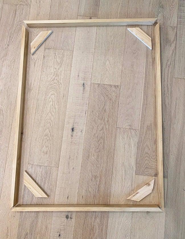 diy canvas floating frame