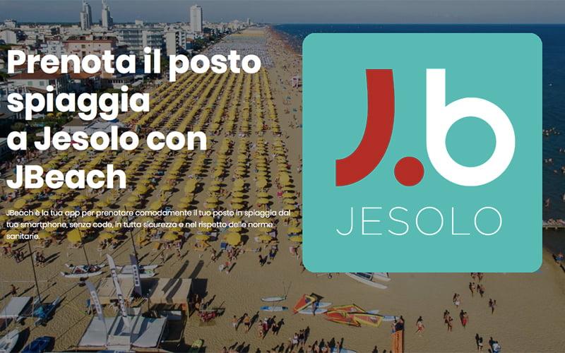 Come funziona JBeach, l'app per prenotare il posto spiaggia a Jesolo