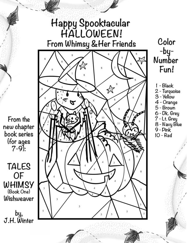 Free Coloring Pages & a Halloween Color-by-Number!