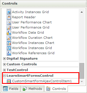 Find your custom K2 smartforms control