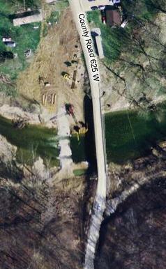 Bridge construction at Reelsville