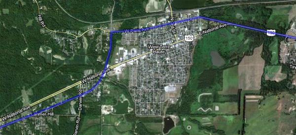 Imagery ©2013 DigitalGlobe, IndianaMap Framework Data, USDA Farm Service Agency, Map data ©2013 Google