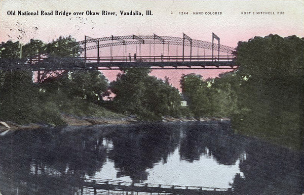 IL NR Vandalia 1909 brodge over Okaw R proc