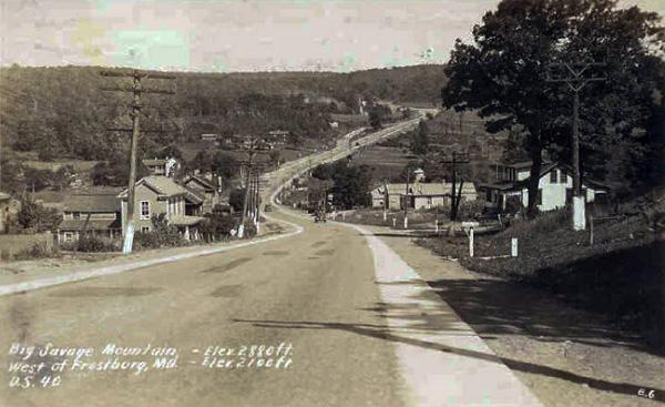 MD NR Frostburg postcard 1930s proc