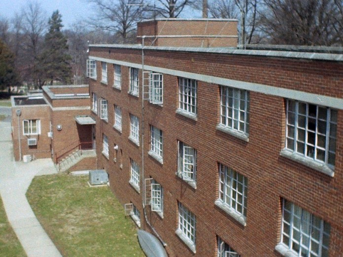 Baur-Sames-Bogart Hall, from the roof