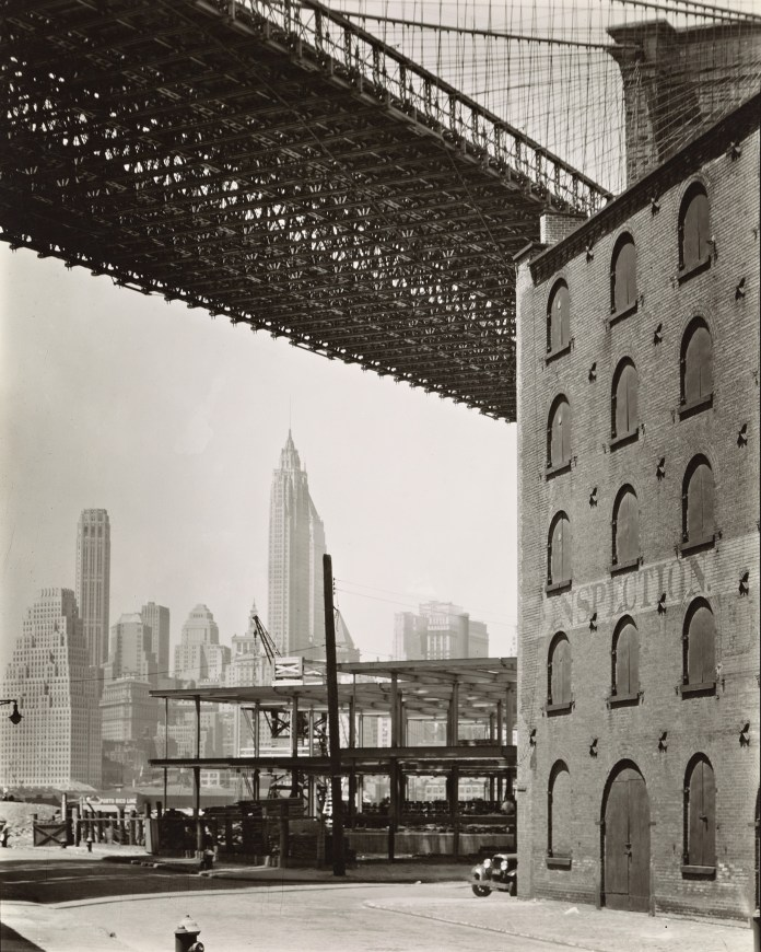 Brooklyn Bridge, Water and Dock Streets, looking southwest, Brooklyn, 1936