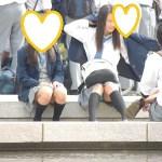 【Pcolle】逆さ撮りは抜けない!座りパンチラが好きな君へ!