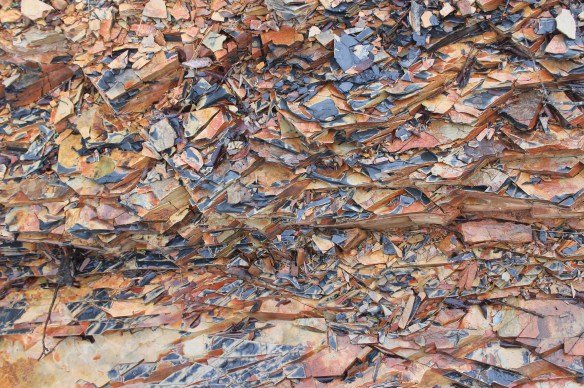 Rocky shale at stop 2 AR