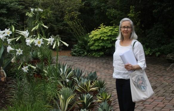 Anita on patio