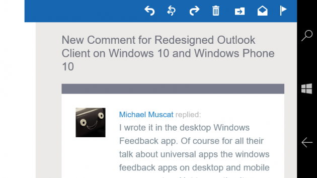 Example Litmus Community email campaign in Landscape mode on Outlook Mail