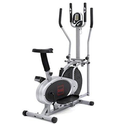 Bike 2 In 1 Cross Trainer Exercise Fitness Machine