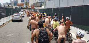 """A Sea of Ass"" - World Naked Bike Ride Los Angeles"