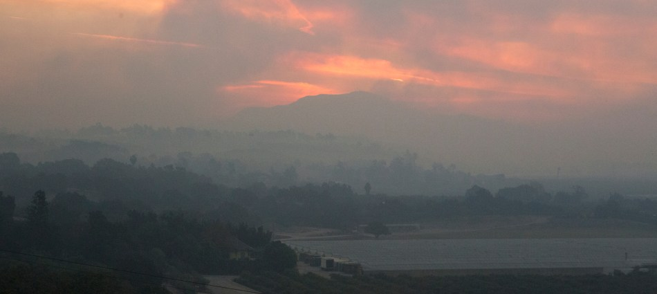 Smokey Sunrise over Ventura