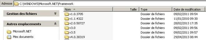 framework_versions_installe