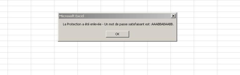 Comment supprimer la protection d'une feuille de classeur Excel sans connaitre le mot de passe ?