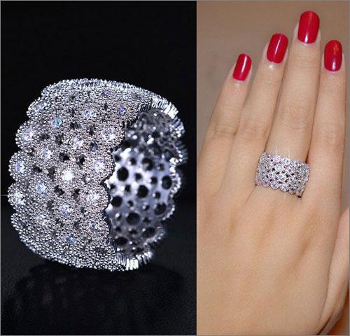 Micro Pave Diamond Ring (Source: pinterest.com)
