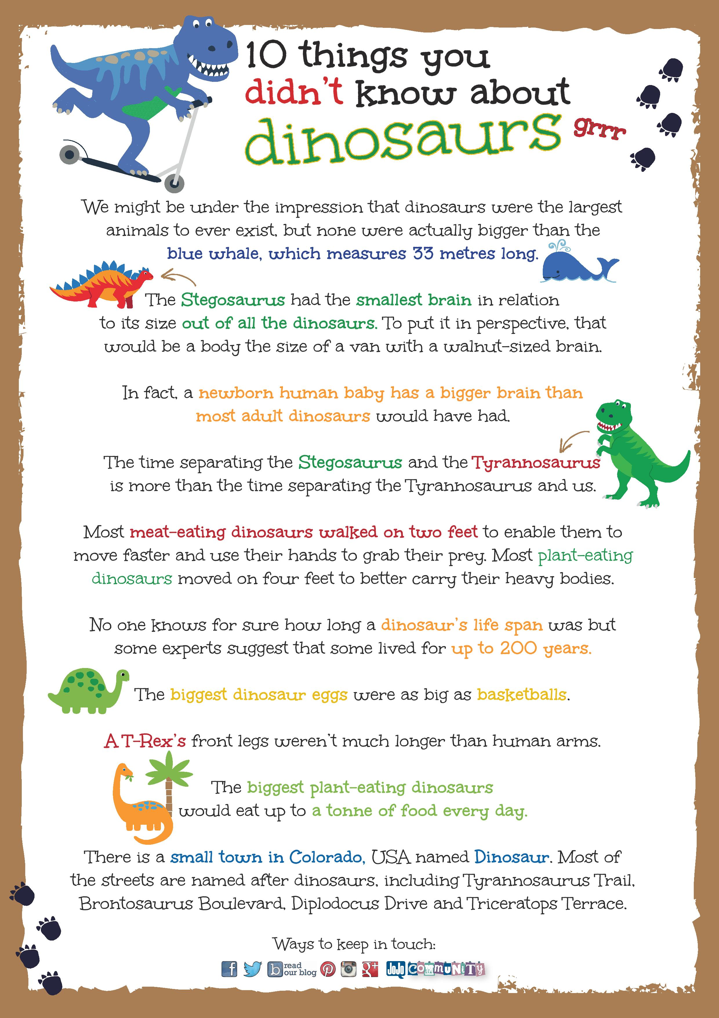 10 Things You Didn T Know About Dinosaurs