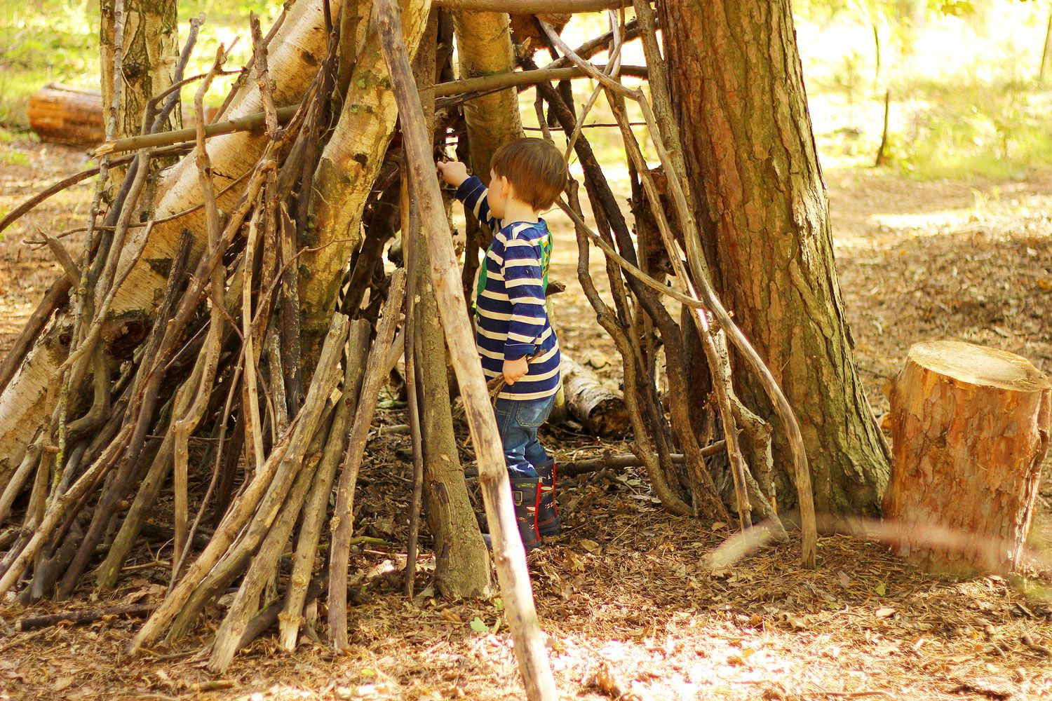 How To Build The Best Forest Den Ever The Joules Journal