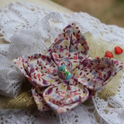 fleur tissu origami
