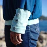 créer et coudre des bandes de finitions en jersey