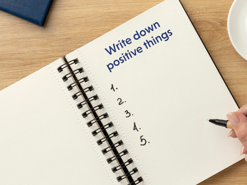 Boost Self-love and self-esteem by writing positive things
