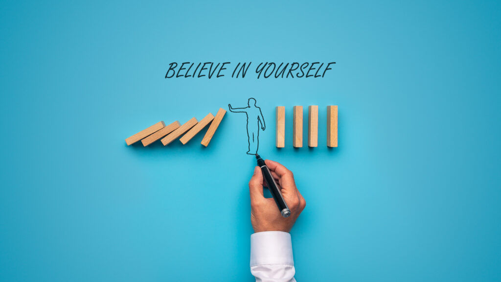 Benefits of self-confidence is you start believing yourself