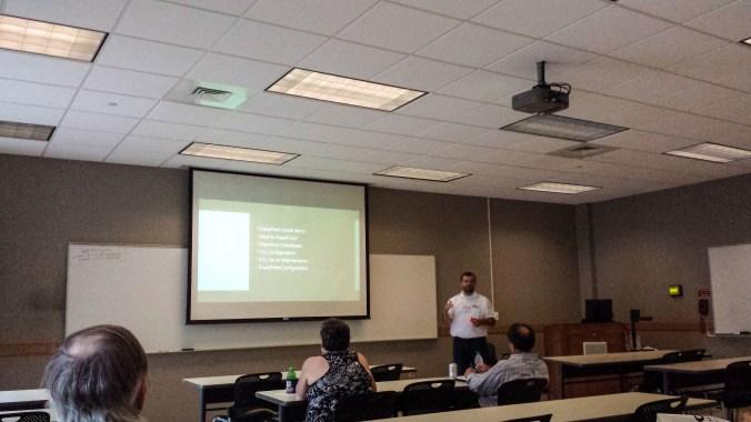 """Daniel Glenn presenting """"Tuning SQL Server for SharePoint"""""""