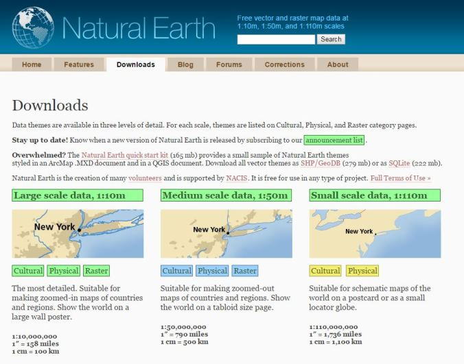 Getting Started with Natural Earth — A SQL Server Shapefile