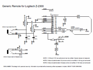 Logitech Z323 Circuit Diagram  Wiring Diagram