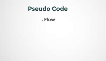 what do you mean by pseudo code