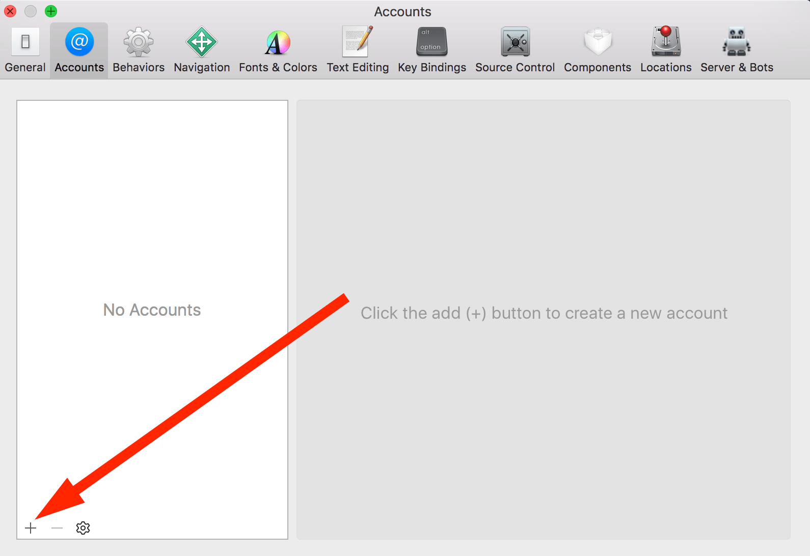 Step 3 - Adding a new account to Xcode