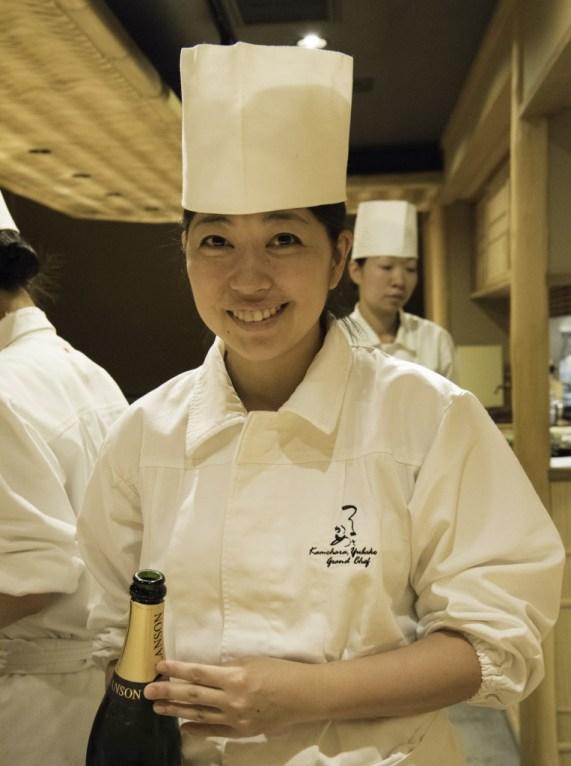 Head Chef Ms. Yubako Kanbara at Tsuru to Kame
