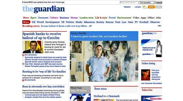 Maquetació editorial The Guardian